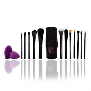 Makeup Brushes Set of 12- Great Gift for her- Makeup Brushes with Blender Sponge and Brush Egg by Veeve Cosmetics