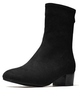 Asiun Low Heel Short Cute Winter Boots