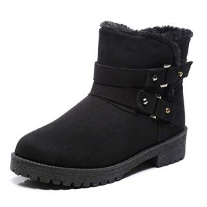 SCIEN Women Round Toe Winter Snow Boots