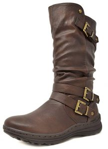 DREAM PAIRS Women's Moscow Fashion Boots
