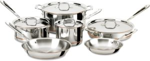 All-Clad 600822 SS Copper Core 5-Ply Bonded Dishwasher Safe