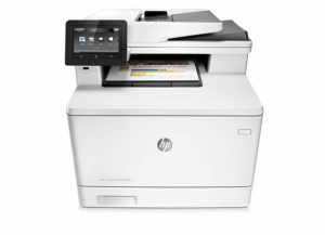 HP LaserJet Pro M477fdn All-in-One Color Laser Printer with Built-in Ethernet & Duplex Printing