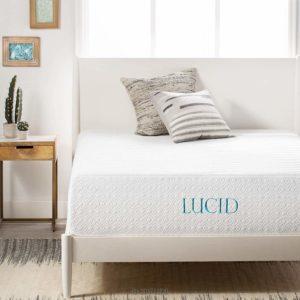 LUCID 14 Inch Medium-Plush Memory Foam Mattress