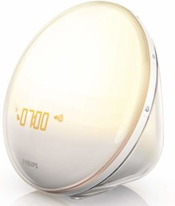 Philips Wake-Up Light Alarm Clock with coloured Sunrise and Simulation and Sunset Fading Night Light