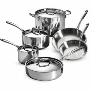 Tramontina Stainless Steel Tri-Ply Clad Cookware Set
