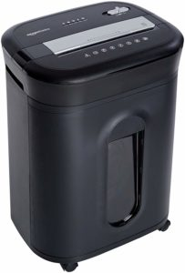 AmazonBasics 15-Sheet Cross-Cut Paper Shredder