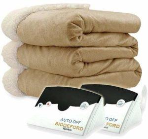 Biddeford Electric Heated Micro Mink or Sherpa Blanket