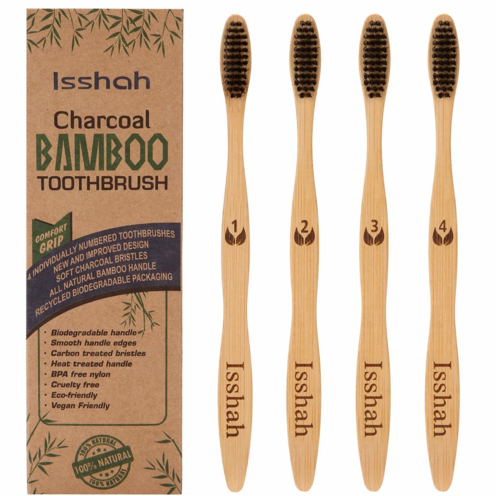Biodegradable Eco-Friendly Natural Bamboo Charcoal Toothbrush