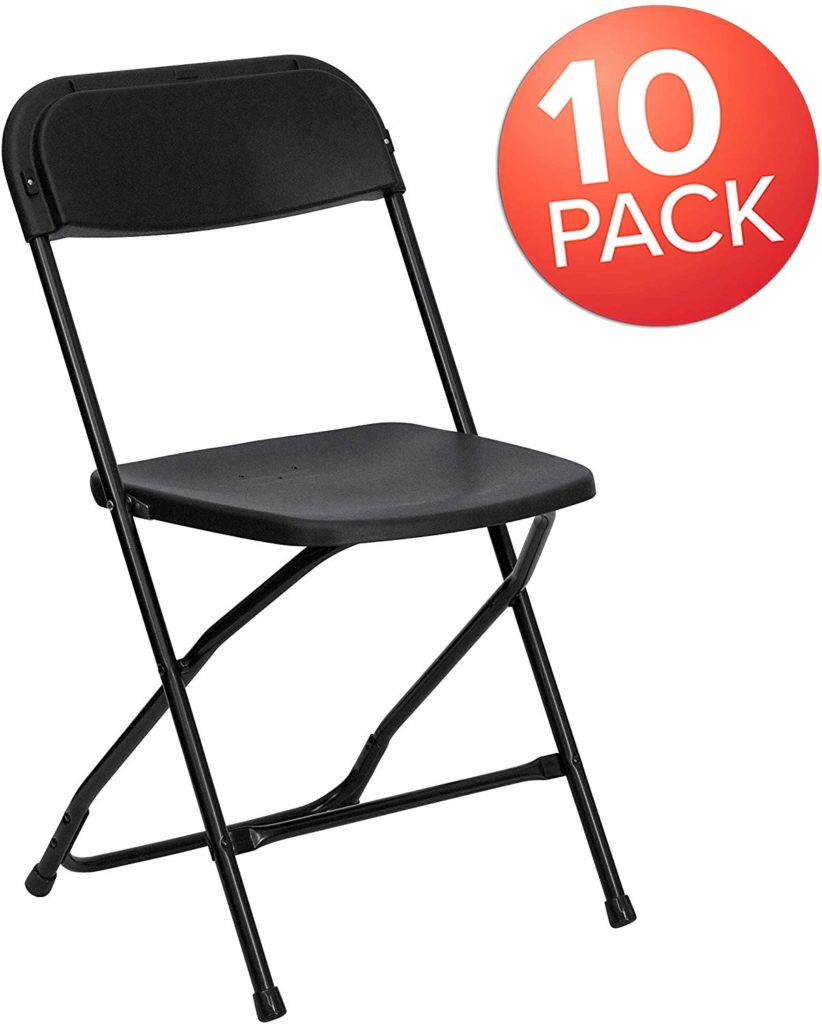 Flash Furniture Premium Black Plastic Folding Chair