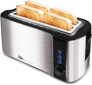Elite Platinum ECT-3100 Long Slot 4 Slice Toaster