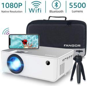 """Fangor 5500 Lumen 230"""" 1080 P Projector"""
