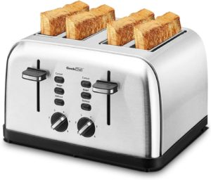 Geek Chef 4-Slice Toaster Stainless Steel Extra-Wide Slot
